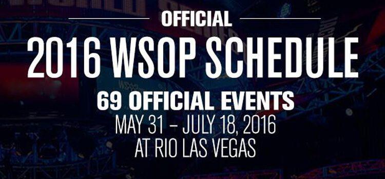 Spielplan & Termine zur WSOP 2016